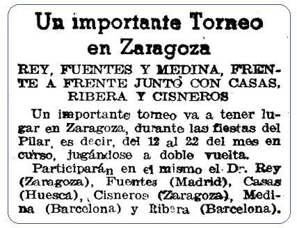 Torneo Nacional Fiestas del Pilar 1942, recorte Mundo Deportivo, 1 de octubre de 1942