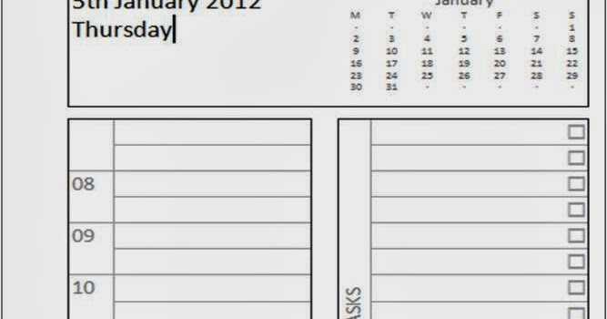 My Life All In One Place 2012 Page Per Day For Filofax