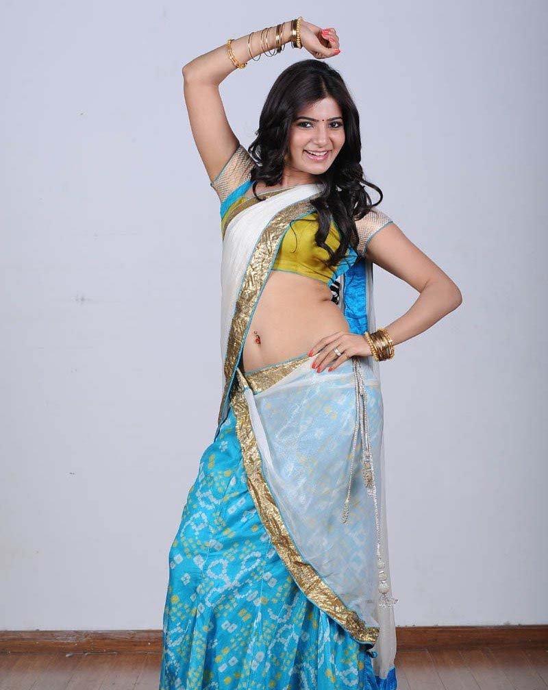 Samantha sexy navel, Samantha Ruth Prabhu in saree, Samantha wallpaper