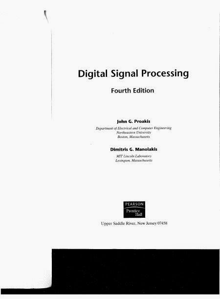 Digital Signal Processing Pdf