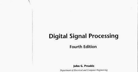 Digital Signal Processing Proakis 3rd Edition Solution Pdf