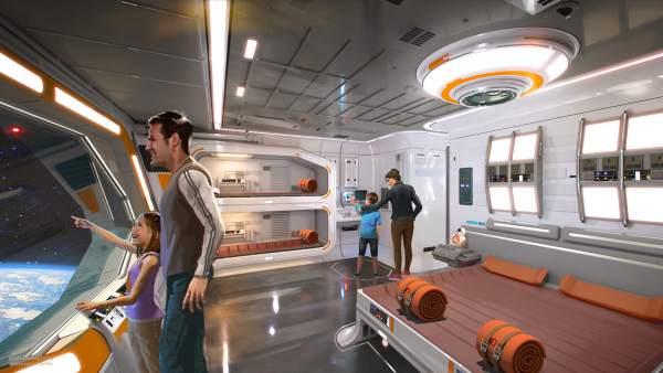 Recreación de una de las habitaciones del futuro hotel 'Star Wars'