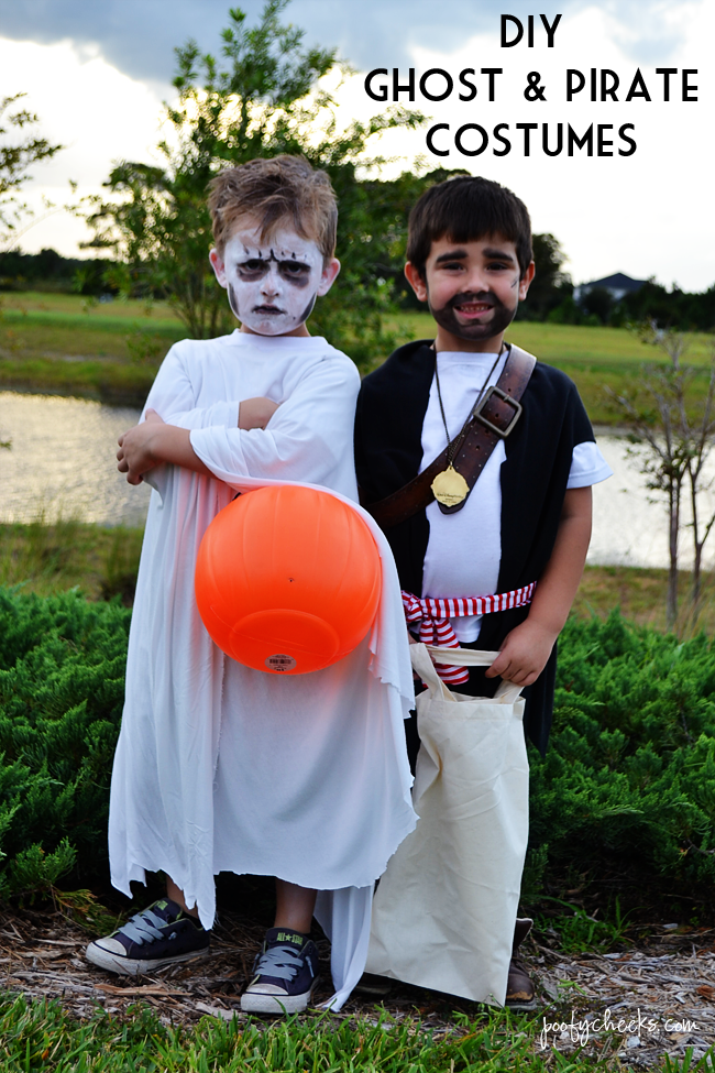 diy halloween costumes for boys ghost and pirate