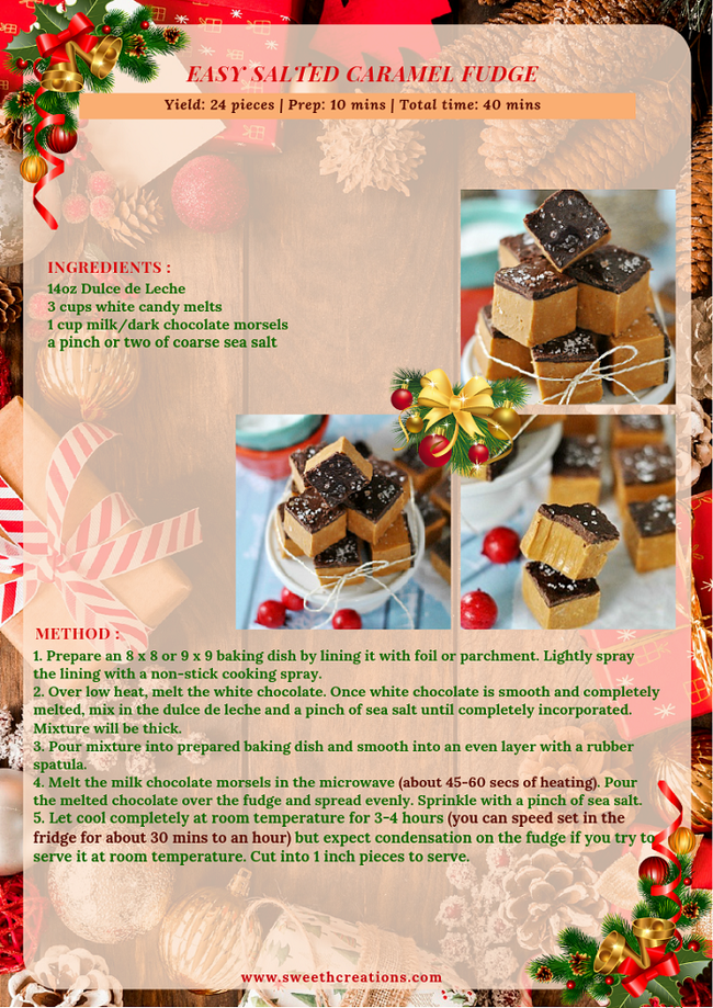 EASY SALTED CARAMEL FUDGE RECIPE