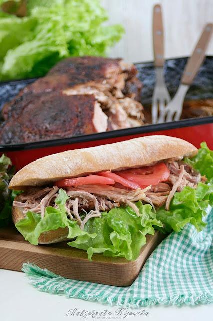 wyczesana wieprzowina, łopatka wieprzowa rwana, kanapki z mięsem, daylicooking