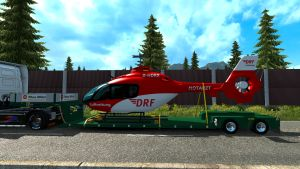 Air Rescue Helicopter Red trailer