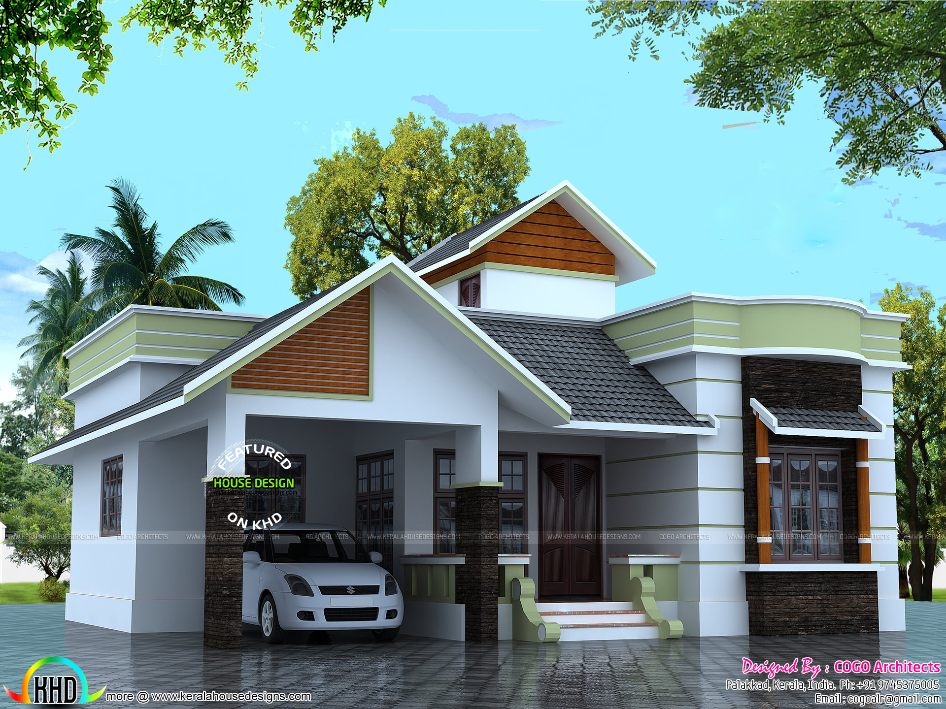 Small Family 2 Bedroom Home 1100 Sq Ft Kerala Home
