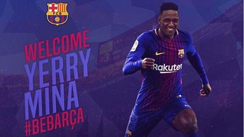 Barcelona chính thức có được chữ ký của trung vệ Yerry Mina