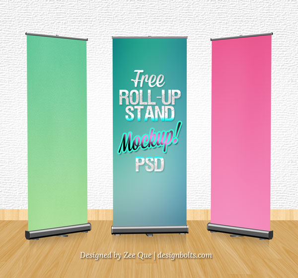 Rollup Banner Stand Mockup PSD