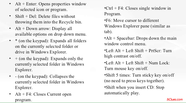 Top 10 + Windows 8 keyboard shortcuts