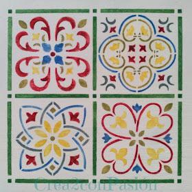 Stencil-azulejo-hidráulico-perchero-handmade-Crea2-Con-Pasión-primer-azulejo