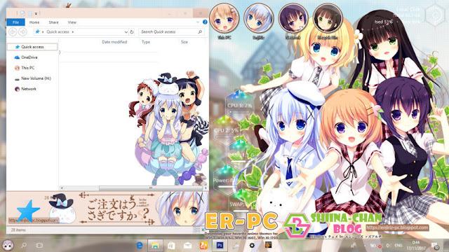 Windows 10 Ver. 1703 Theme Gochuumon wa Usagi desu ka? by Enji Riz