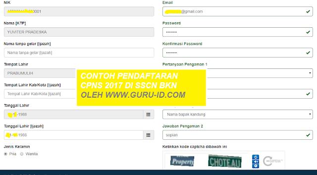 GAMBAR cara registrasi di sscn bkn go id