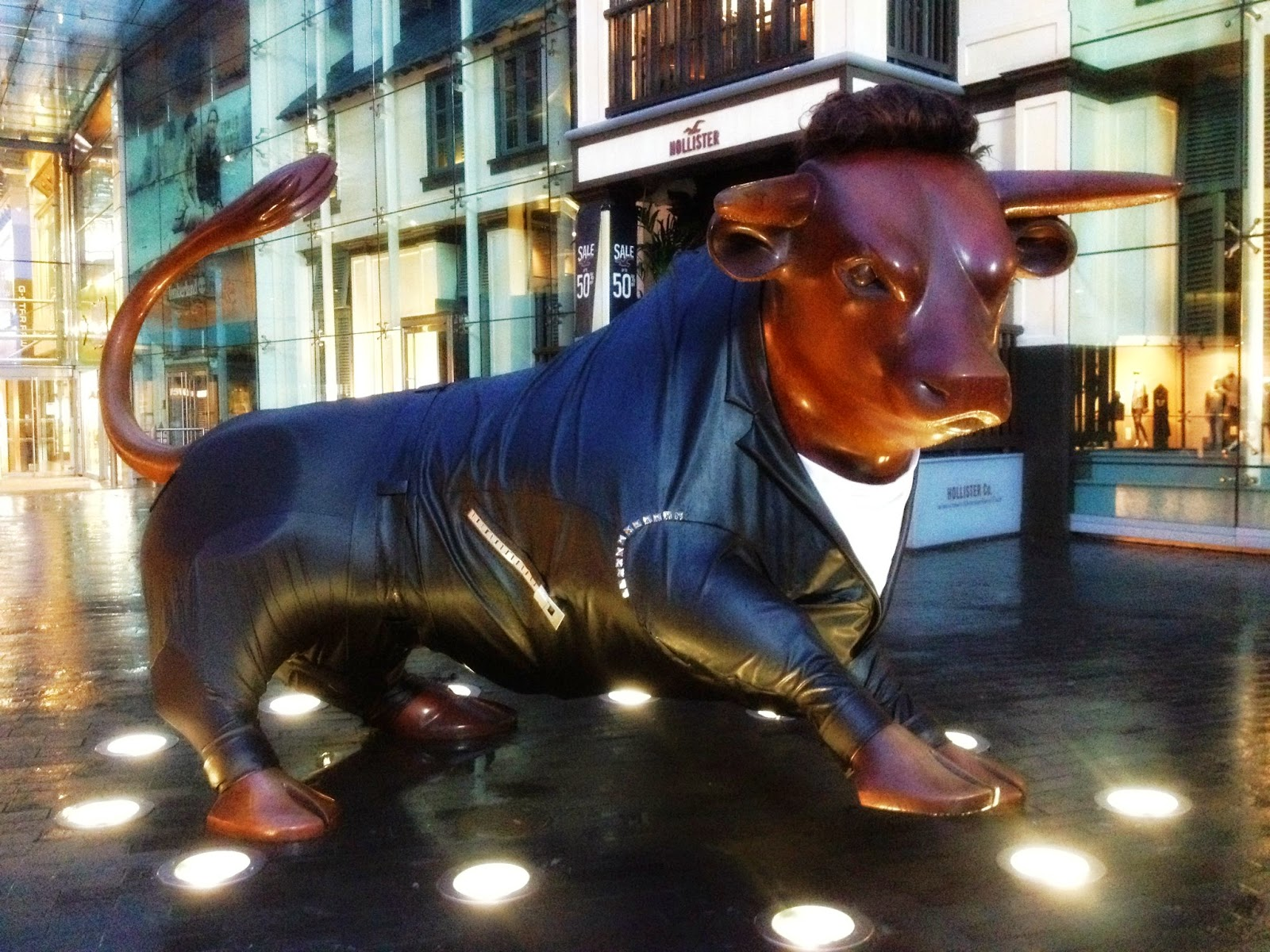 The Bull Birmingham wearing a leather jacket
