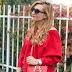 Orsay Look mit der Trendfarbe Rot und einem coolen Lederrock styling