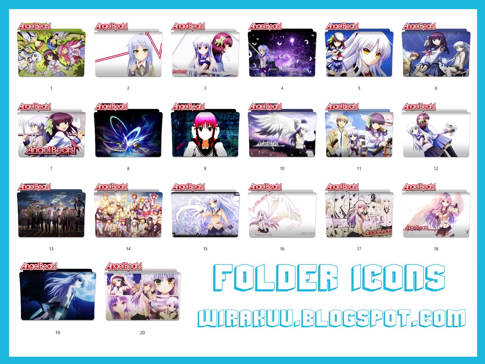 20 Folder Icons Anime Angel Beats Windows 7 8 10