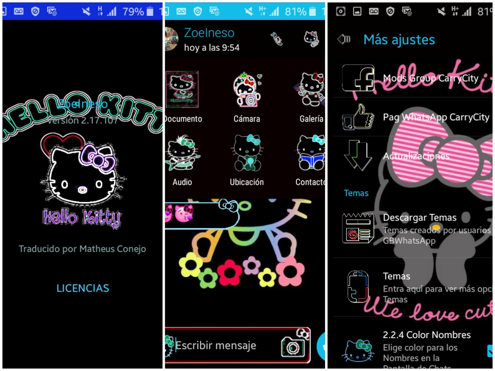 GBWhatsApp v5 50 Hello Kitty Edition With Meow Sound latest