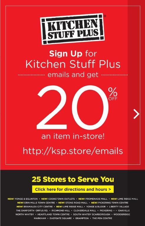Kitchen Stuff Plus Flyer Red Hot Deals Coupon Nov 6 12 2017