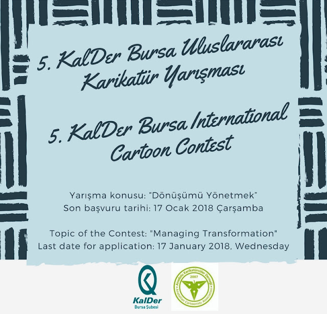 5th KalDer Bursa International Cartoon Contest, Turkey