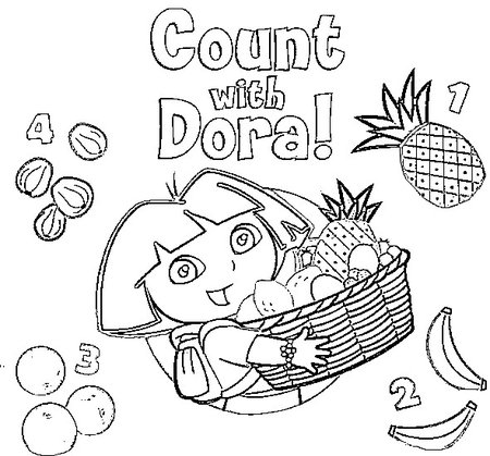 Free Coloring Pages Dora the Explorer Drawing >> Disney