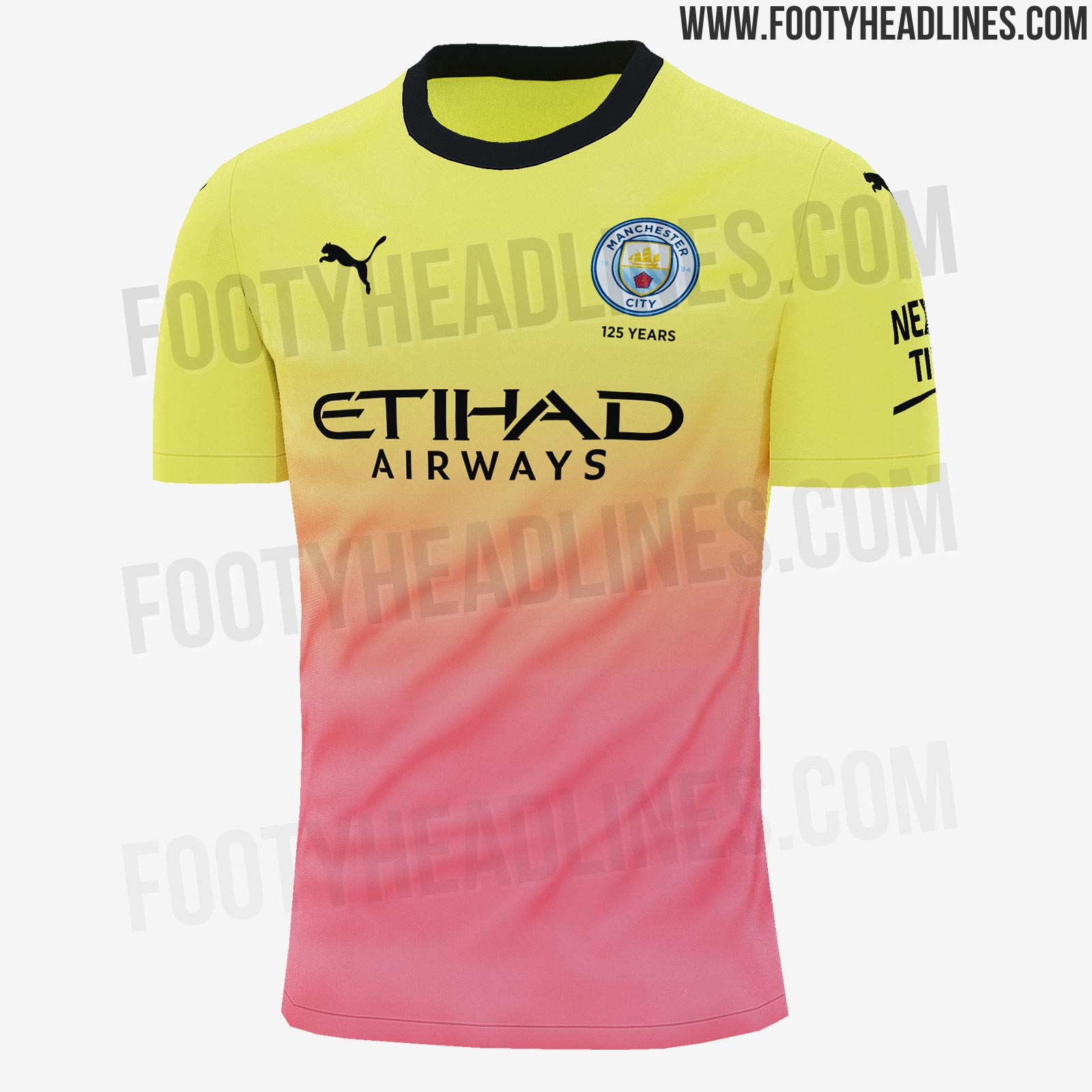 737cfb713 Finally, the Manchester City 2019-20 third jersey is predominantly yellow  ('fizzy yellow') fading into peach at the bottom. The shorts and socks of  the Man ...