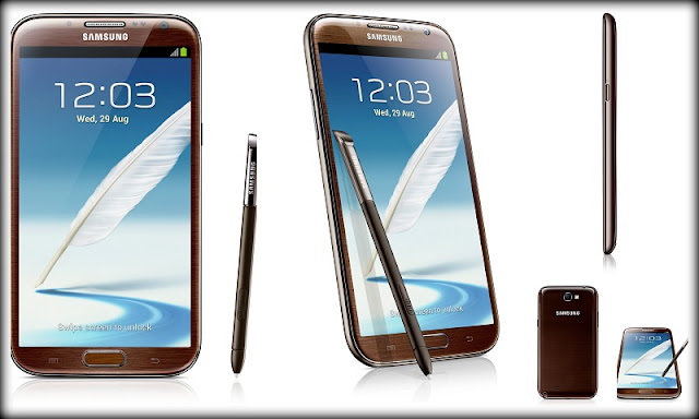 Check out the slim profile of the Samsung Galaxy Note 2 Amber Brown edition