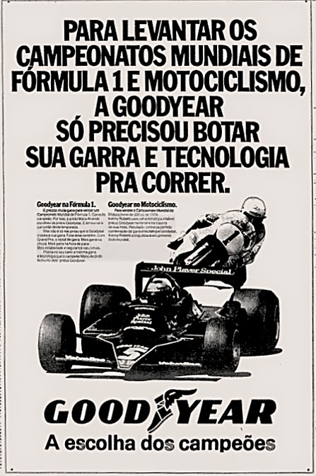Good Year. reclame de carros anos 70. brazilian advertising cars in the 70. os anos 70. história da década de 70; Brazil in the 70s; propaganda carros anos 70; Oswaldo Hernandez;