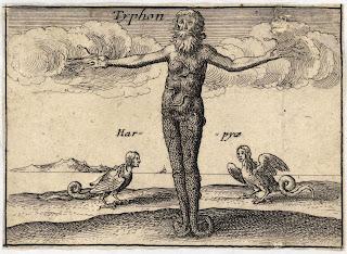 Antigua representación de Tifón en la mitología griega