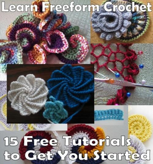 Learn Freeform Crochet - 15 Free Tutorials