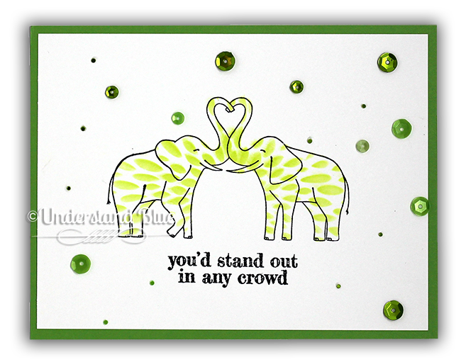 Elephant Pair Card by UnderstandBlue
