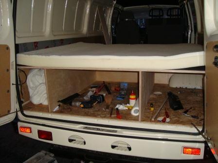 swiss gaz gazelle goes argentina and chile ausbau der gazelle zum camper. Black Bedroom Furniture Sets. Home Design Ideas