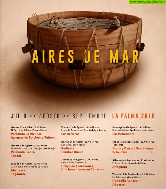 Programa conciertos Aires de Mar 2018 - Agenda