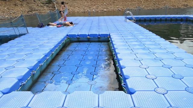 Piscina Fluvial para crianças na Zaboeira