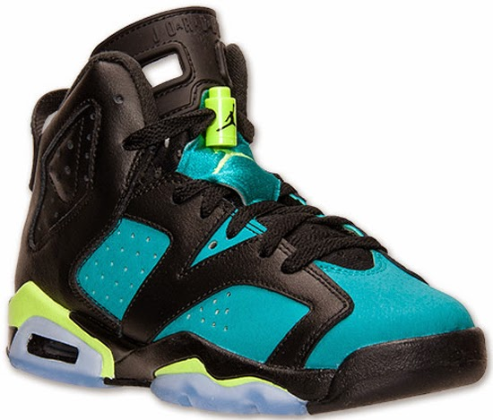 65155d9c908612 Girl s Air Jordan 6 Retro GS Black Turbo Green-Volt Ice-Black Release  Reminder