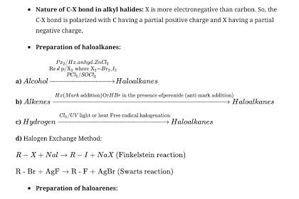 CBSE Class 12 Chemistry Notes : Haloalkanes and Haloarenes