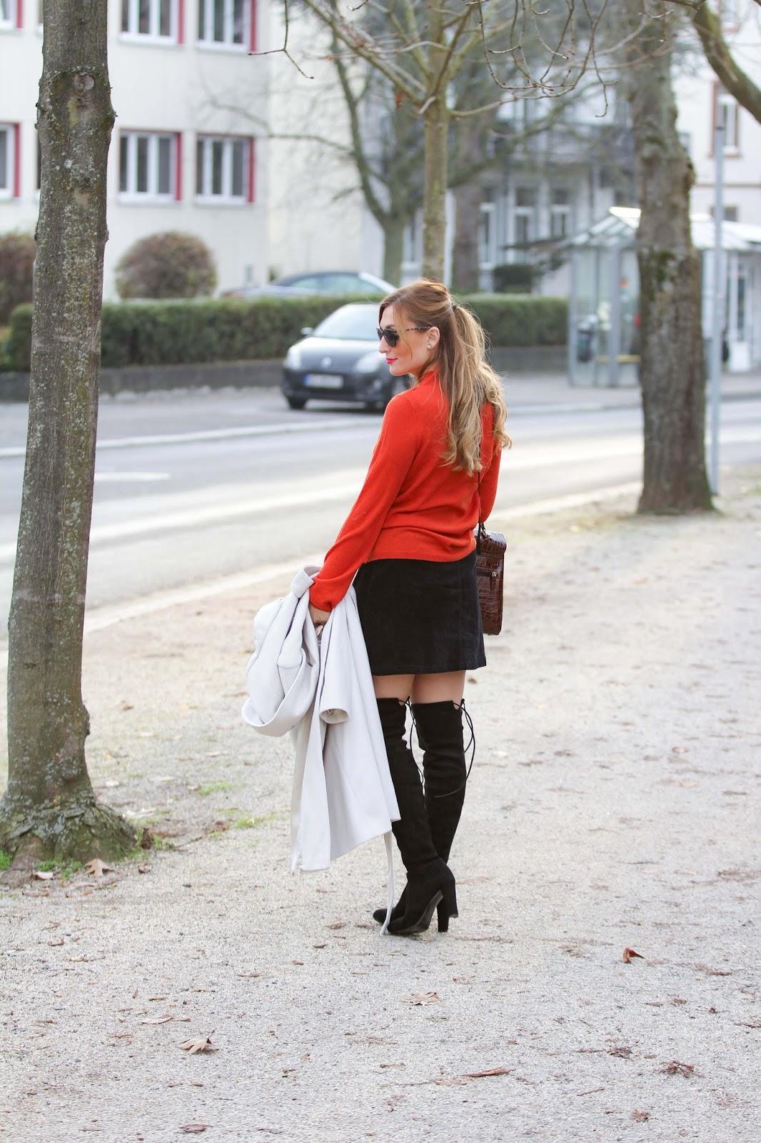 60-style-Blogger-Haarfrisur-Orangener-Pullover-Gerry-Weber