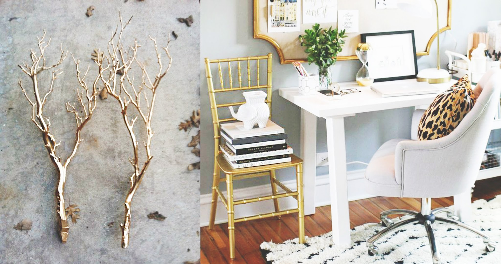Now That's Chic: Gold Accents Home Decor Fever