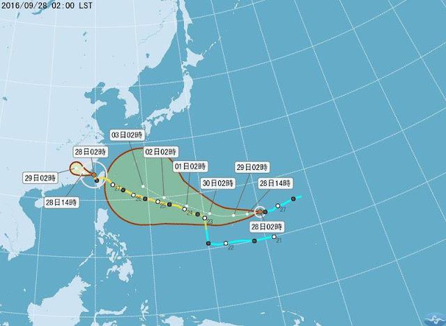 Topan Maggie Belum Pergi Dari Taiwan Sepenuhnya, Kini Sudah Muncul Topan Baru Bernama Hibiscus