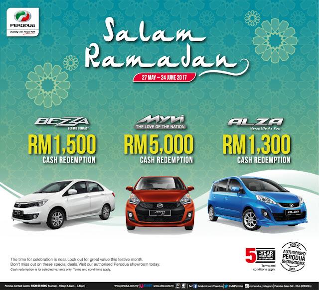 Promosi Perodua Bulan June 2017- Salam Ramadan