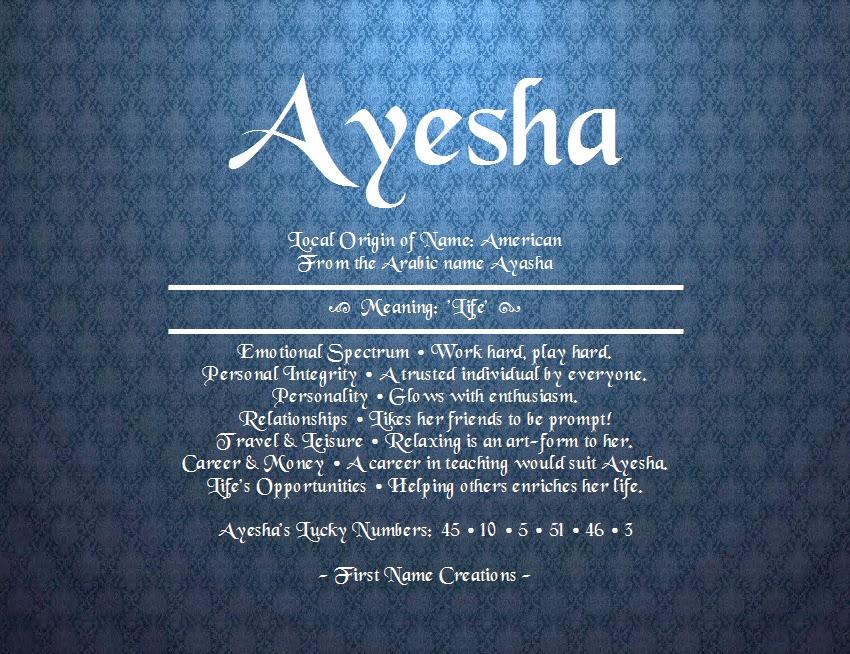 Ayesha Name Images - #traffic-club