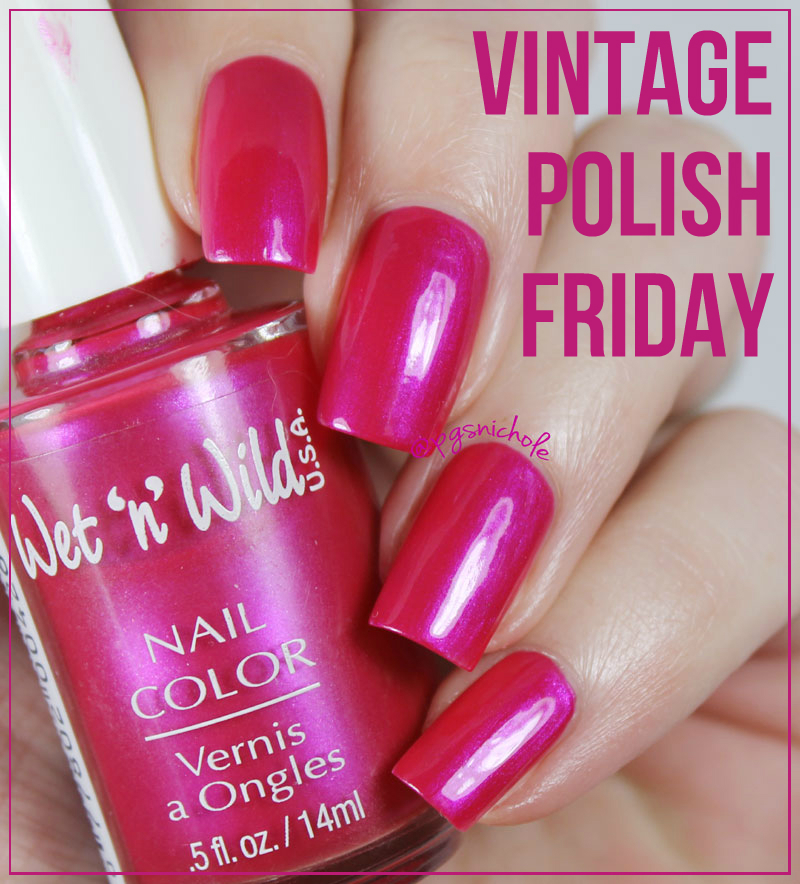 Bedlam Beauty: Vintage Polish: Wet \'n\' Wild Frosted Fuchsia 426