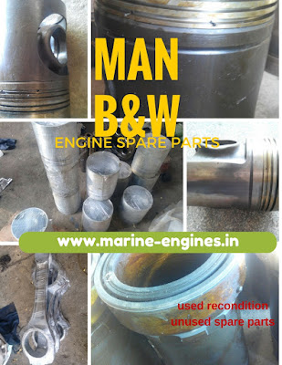 Used, MAN , B&W, marine, engine, motor, motori, moteur, ship, main engine, auxiliary engine, parts, for sale, supplier, sell, stockist, stock, buy, piston, plungers, crown, rod, valve, exhaust, ring, gasket