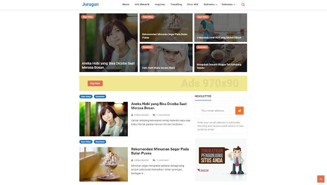Juragan Responsive Blogger Template