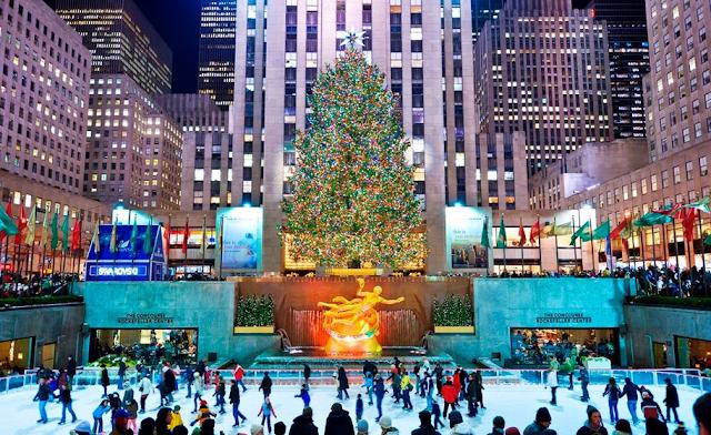 Rockefeller Center em Nova York em Janeiro