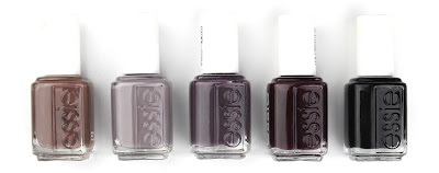 essie nail polish varnish mink muffs chinchilly smokin' hot sole mate licorice