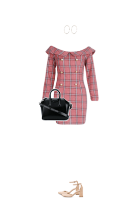 pink plaid dress outfit for a lawyer interview