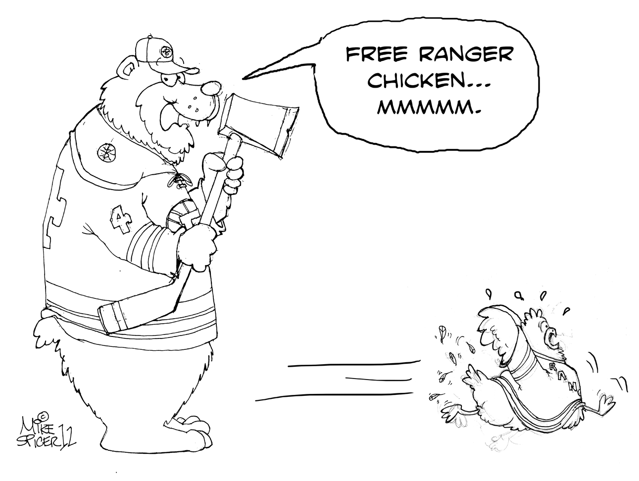bruins coloring pages   Mike Spicer Cartoonist / Caricaturist.: Bruins vs. NYR ...