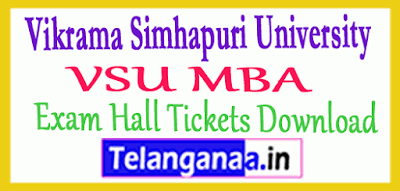 Vikrama Simhapuri University VSU MBA Exam Hall Tickets Download