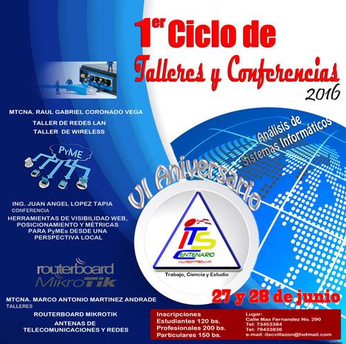 Mi participación en el 1er. Ciclo de Talleres y Conferencias del ITSC en Villazón