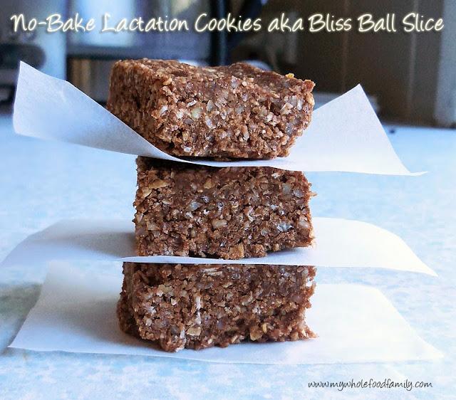 no bake lactation cookies aka bliss ball slice from www.mywholefoodfamily.com
